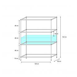 Welsblock für Aquarien 120 x 50 x 30  cm