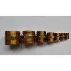 Messing Nippel Doppelnippel Sechskantnippel schwere Ausführung