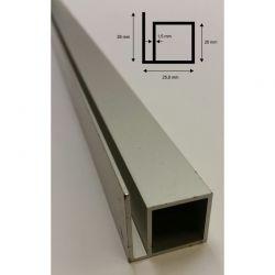 Alu Vier-Kantprofil mit 1 Steg 25 mm