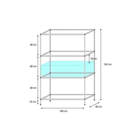 regal f r 100 x 50 x 30 cm aquarien terra natur. Black Bedroom Furniture Sets. Home Design Ideas
