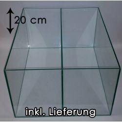 TRANSPARENT Aquarium für Kallax Regale mit 1x Trennscheibe (20 cm)