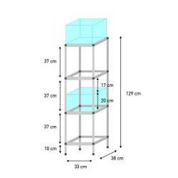 Sorglos 4er  KALLAX Aquarien Regal (20 cm)