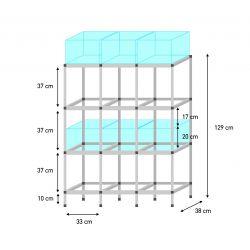 Sorglos 12er KALLAX Aquarien Regal (20 cm)