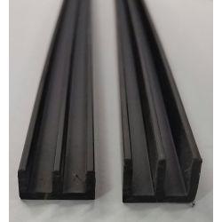 Glasführungsschienen E-Profil für Aquarien und Terrarienbau Glasprofil  Schiebetüren Oben Unten