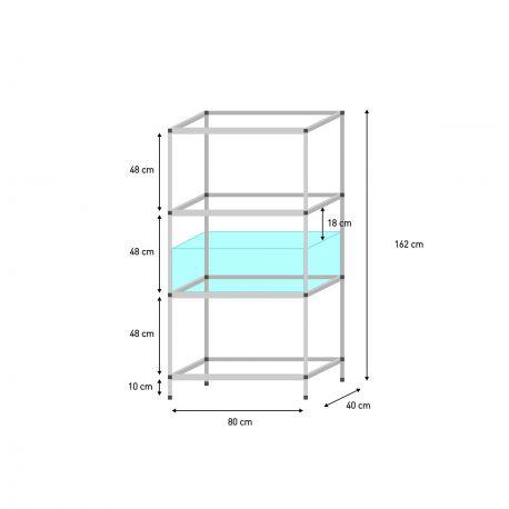 Shelf 80 x 40 x 30 cm