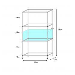 Shelf 100 x 40 x 40 cm
