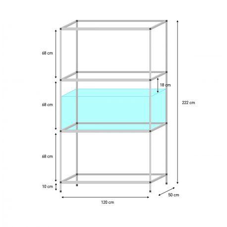 regal f r 120 x 50 x 50 cm aquarien terra natur. Black Bedroom Furniture Sets. Home Design Ideas