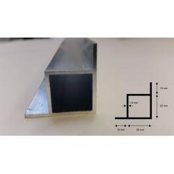 Vierkant mit 2 Steg (1 m)